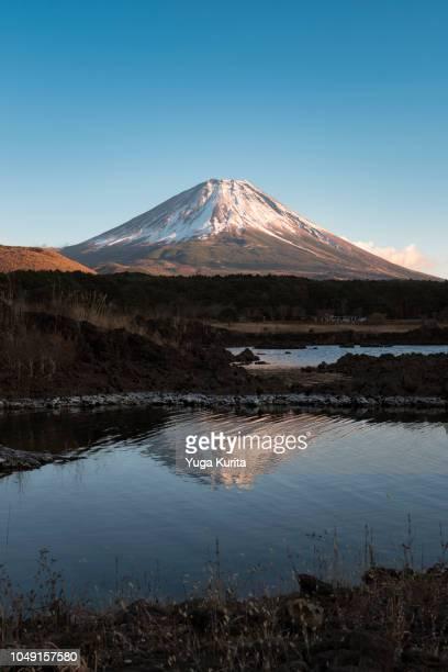 Mt. Fuji Reflected in Lake Motosu