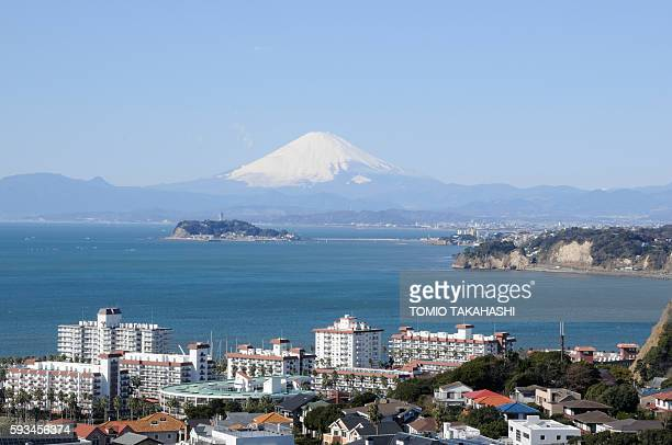 Mt. Fuji seen from Enoshima Island, Zushi, Kanagawa Prefecture, Japan