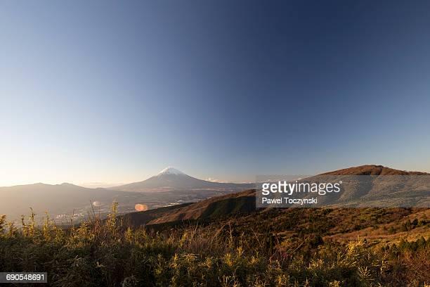 Mt. Fuji seen from Hakone hills, Japan