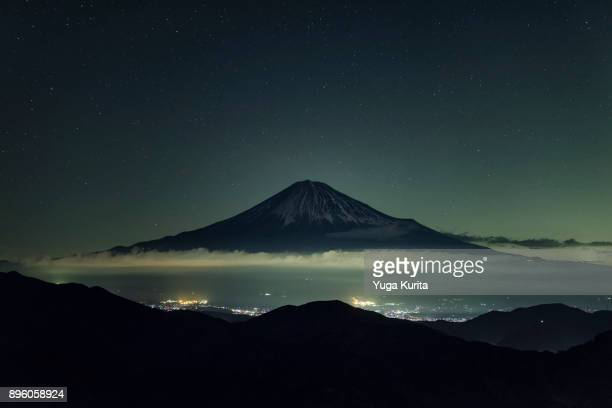 Mt. Fuji under the Starry Sky