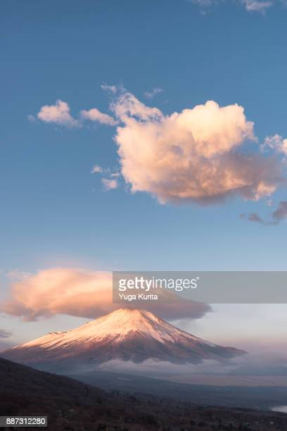 Mt. Fuji with a Floating Lenticular Cloud on Top