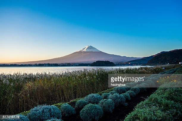 Mt. Fuji with lake kawaguchi-ko at sunrise