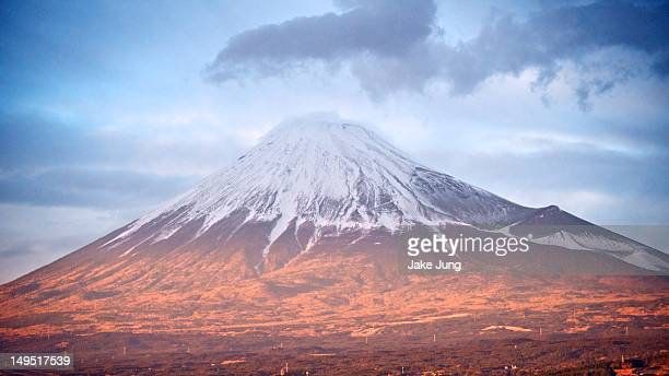 Mt. Fuji with snow-capped summit