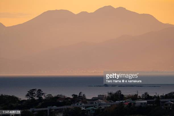 Mt. Hakone and Pacific Ocean in Japan