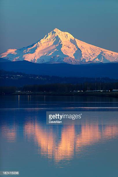 Mt Hood Columbia River Oregon Reflection.