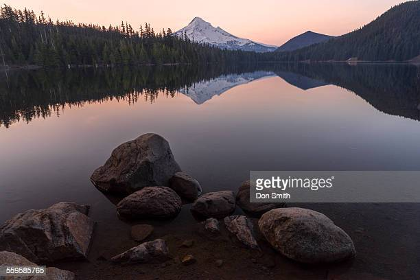 mt. hood reflection - don smith stock photos and pictures