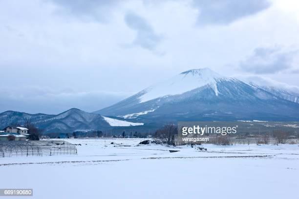 Mt. Iwate in Snow, Iwate prefecture, Japan