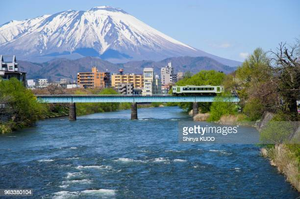 mt. iwate - iwate prefecture stock photos and pictures