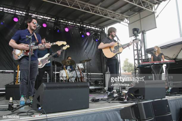Mt Joy performs during the 1st annual Innings Festival at Tempe Beach Park on March 25 2018 in Tempe Arizona