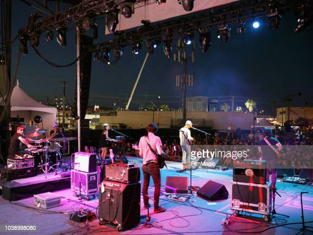 Mt Joy performs on Huntridge Stage during the 2018 Life Is Beautiful Festival on September 23 2018 in Las Vegas Nevada
