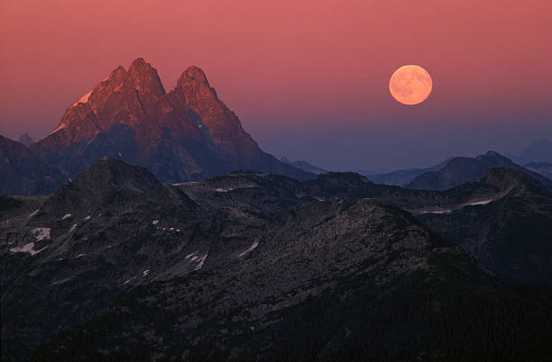 Mt. Judge and moon