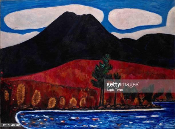 Mt. Katahdin , Autumn, 1939-40, Oil on canvas, 30 1/4 _ 40 1/4 in. , Paintings, Marsden Hartley , Beginning in the mid-1930s, Hartley, a restless...