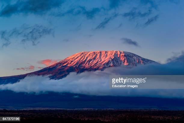 Mt Kilimanjaro in Tanzania from Satao Elerai Conservancy Near Amboseli National Park Kenya