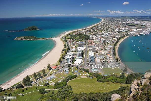 mt. maunganui, bay of plenty, new zealand (xxxl) - northland new zealand stock pictures, royalty-free photos & images