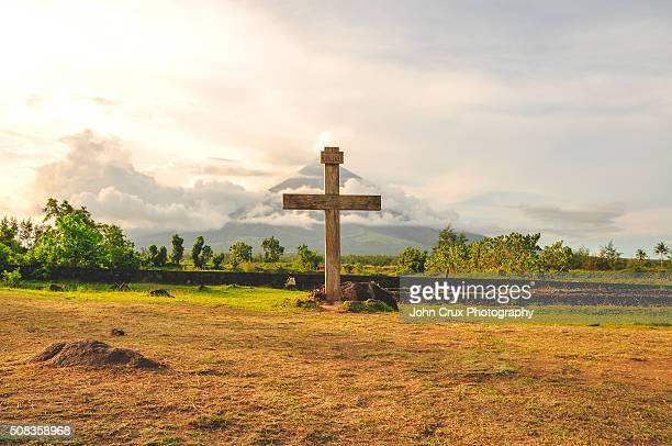 Mt Mayon cross
