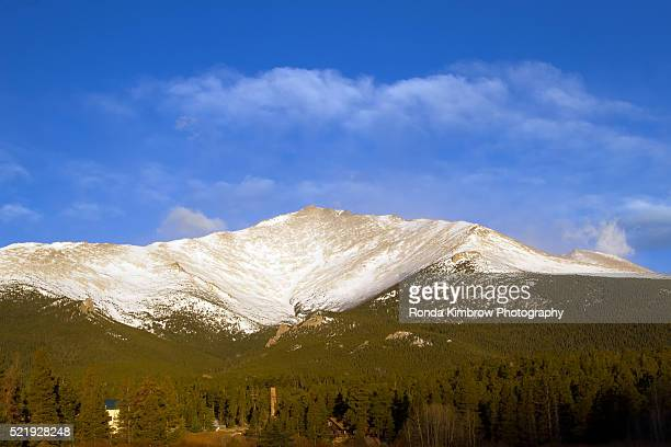 mt meeker after some freshly fallen snow - after stock photos and pictures