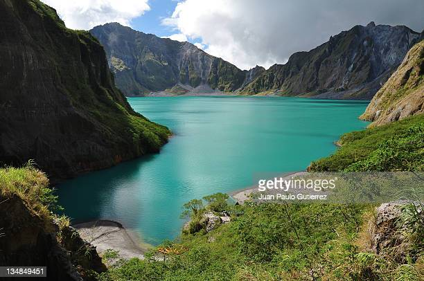 mt. pinatubo's caldera - mt pinatubo stock photos and pictures