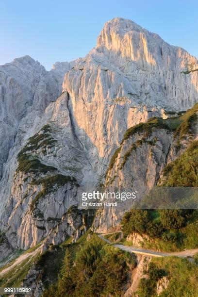 Mt Predigtstuhl and Mt Fleischbank, Wilder Kaiser, Tyrol, Austria