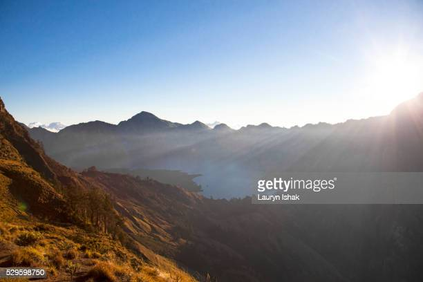 mt. rinjani, lombok - lauryn ishak stock pictures, royalty-free photos & images
