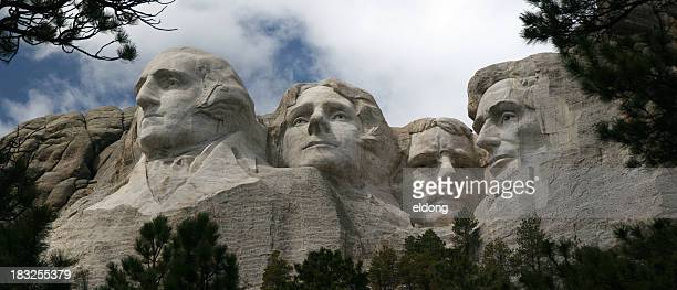 mt. rushmore (large panorama) - south dakota stock pictures, royalty-free photos & images