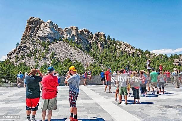 Mt Rushmore Visitors enjoying this great view