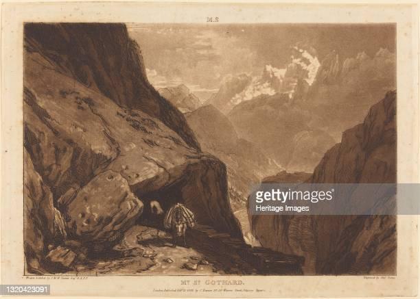 Mt. Saint Gothard, 1808. Artist JMW Turner.