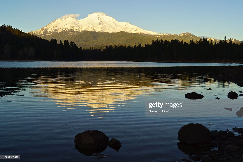 Mt. Shasta Shadow Rocks : Stock Photo