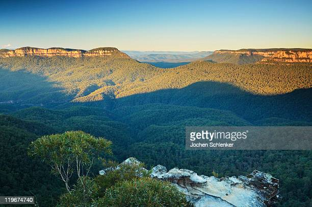 Mt Solitary and Jamison Valley, Blue Mountains