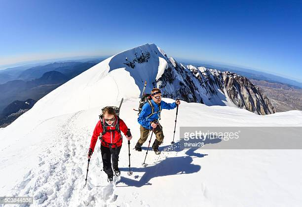 mt. st. helens climbers - mount st. helens stock pictures, royalty-free photos & images