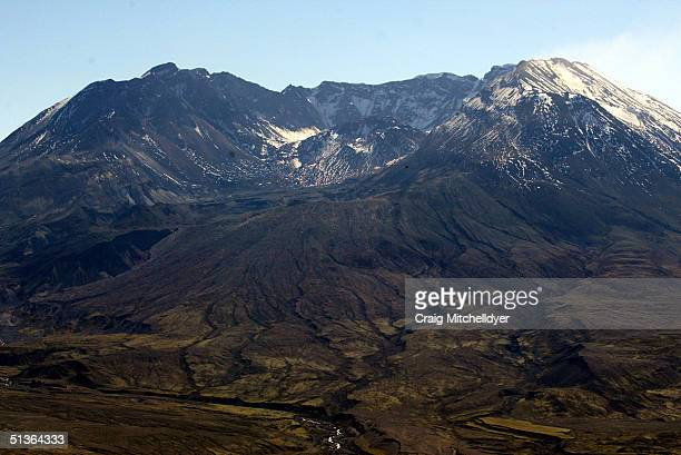 Mt. St. Helens is shown September 27, 2004. Hundreds of tiny earthquakes have registered on seismographs in recent days, but experts say the activity...