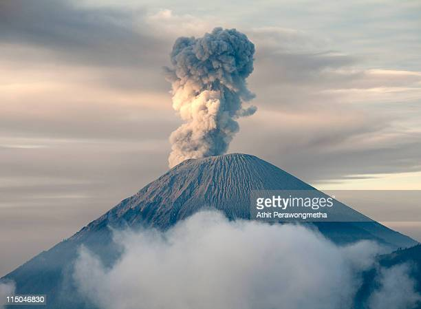 mt. sumeru - erupting stock pictures, royalty-free photos & images