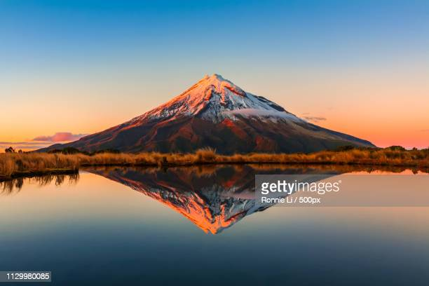 mt taranaki - horizontal stock pictures, royalty-free photos & images