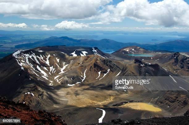 Mt Tongariro, Red Crater and Blue Lake
