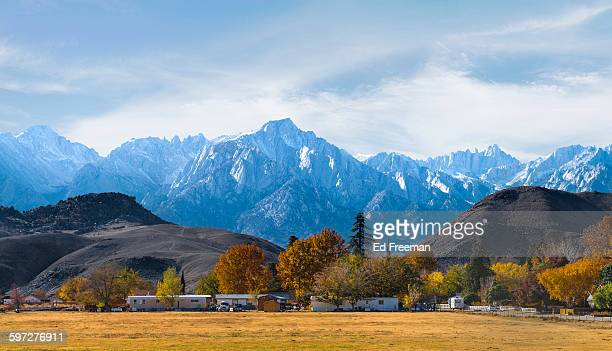 mt. whitney panoramic - ranch stock pictures, royalty-free photos & images