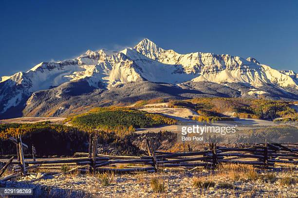 mt wilson from last dollar rd, co - mt wilson colorado stock photos and pictures