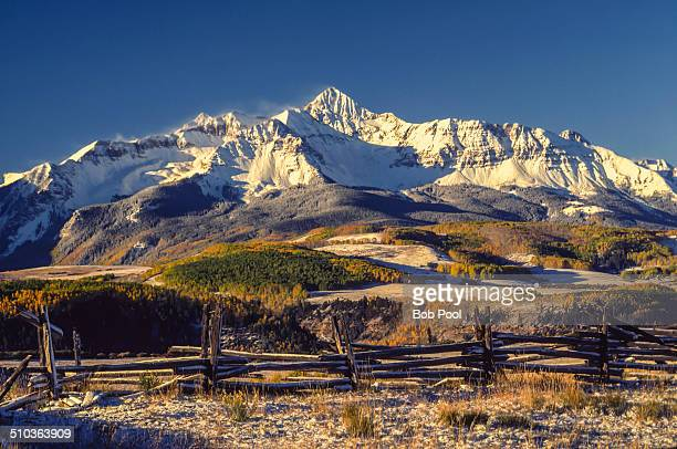 mt wilson from last dollar rd - mt wilson colorado stock photos and pictures