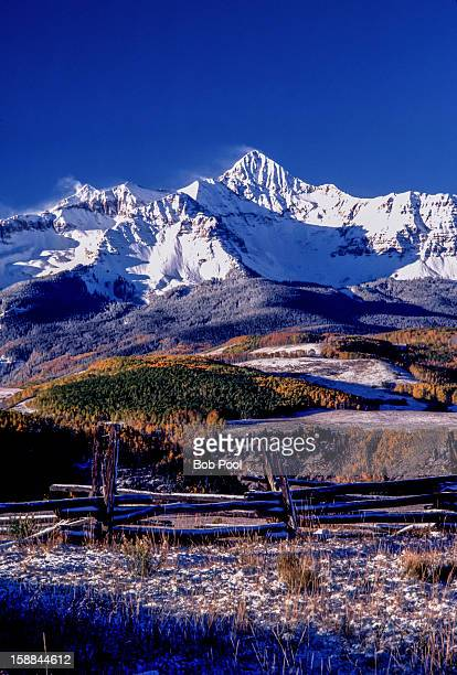 mt wilson from last dollar road - mt wilson colorado stock photos and pictures
