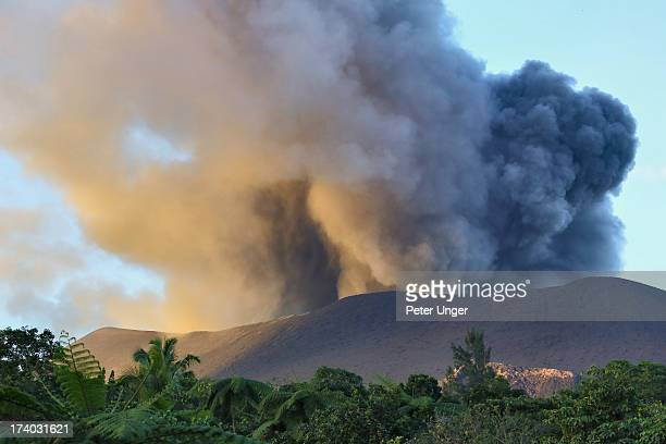 Mt Yasur erupting smoke and ash, Tanna Island