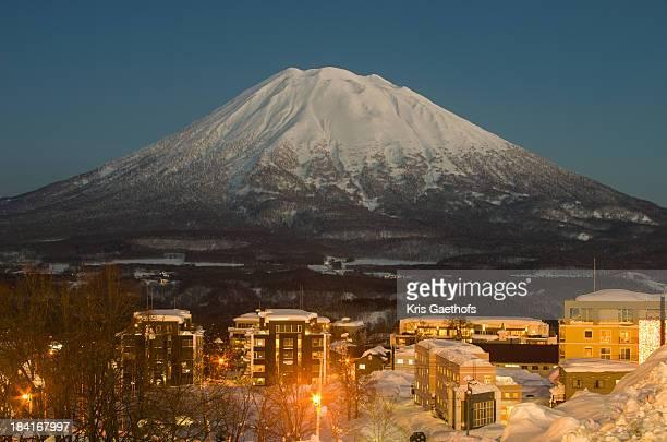 Mt Yotei at dusk