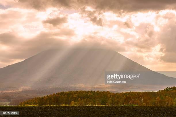 Mt Yotei bathing in sun rays