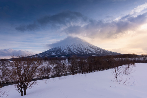 Mt Yotei from Ski Resort , Hokkaido, Japan - gettyimageskorea