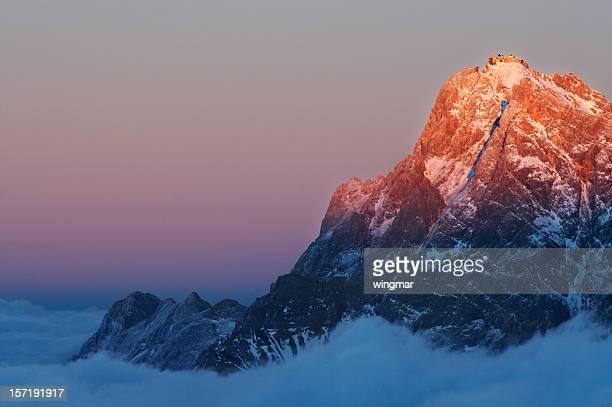 Mt. Zugspitze glühen