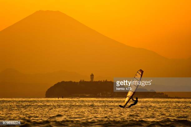 Mt.Fuji and Windsarfing