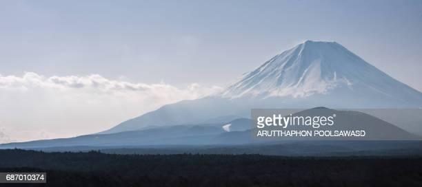 Mt.Fuji , Fujisan , landscape view landmark of Japan , Yamanashi , Japan