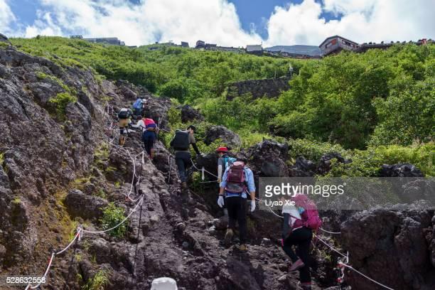 Mt.Fuji hikers