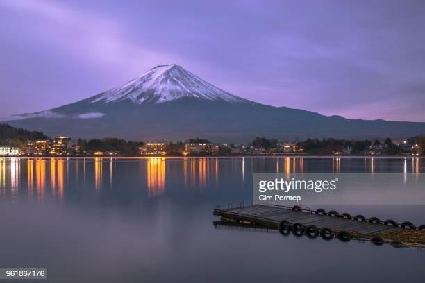 Mt.Fuji on Kawaguchiko lake , Yamanashi , japan