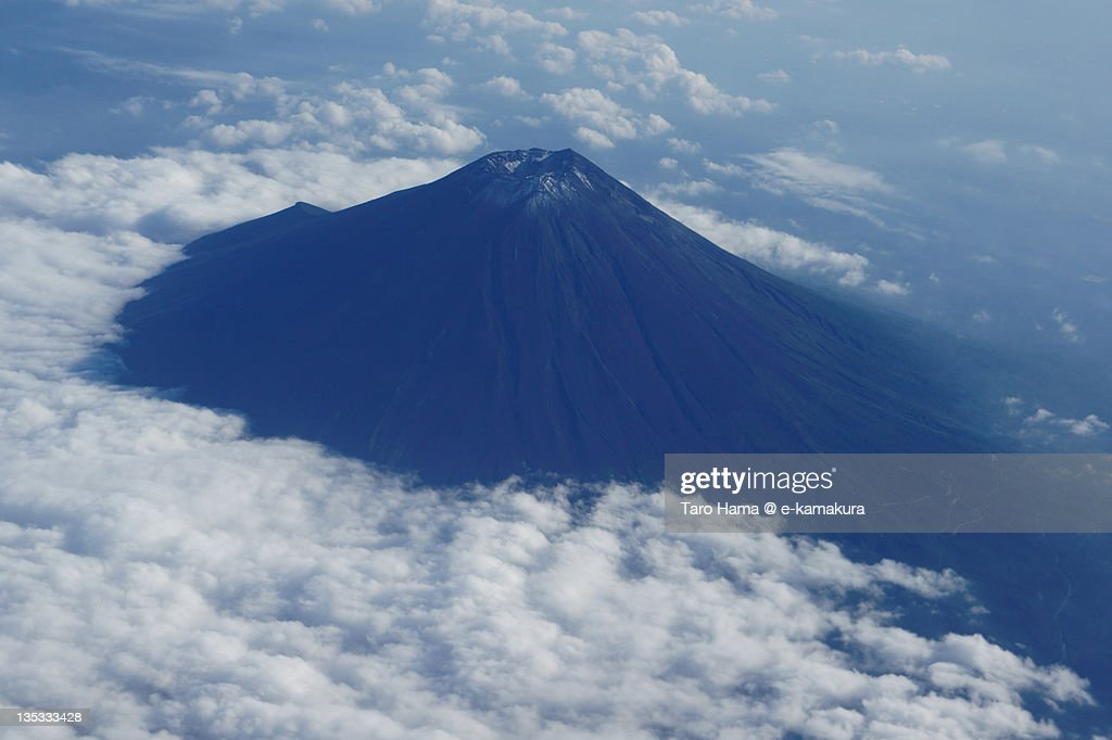 Mt.Fuji viewed from airplane : Foto de stock
