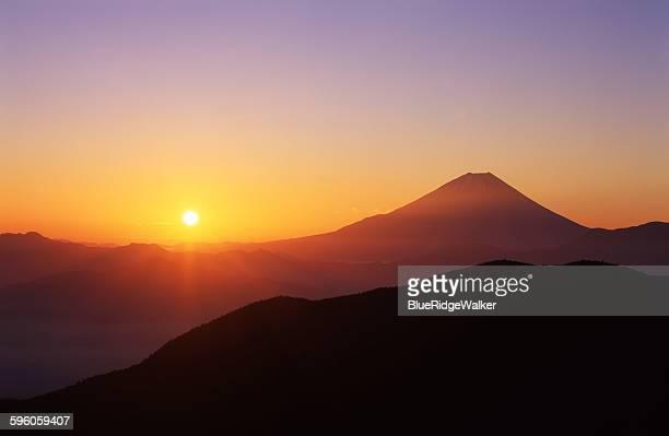 Mt.Fuji with the rising sun