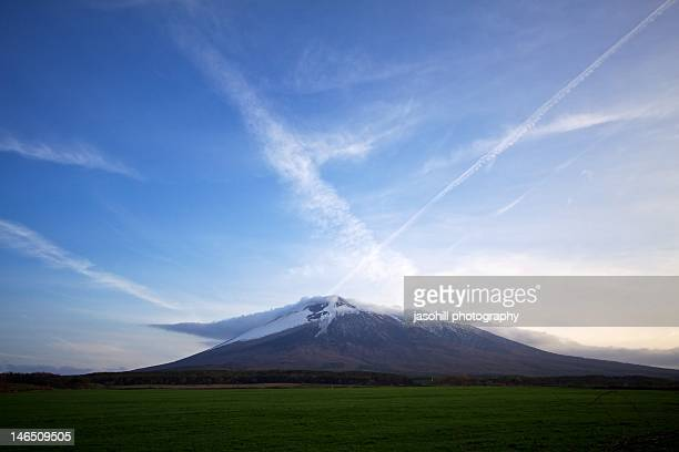 mt.iwate in spring - iwate prefecture stock photos and pictures
