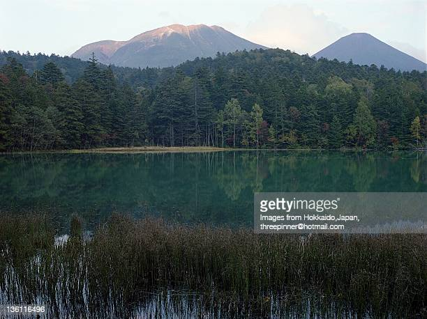 Mt.Meakan and Mt.Akanfuji